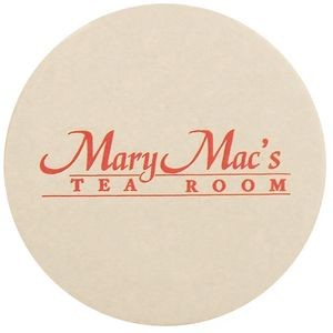 "80 Pt. White 3.5"" White Round - Pulpboard Coasters - The 500 Line"